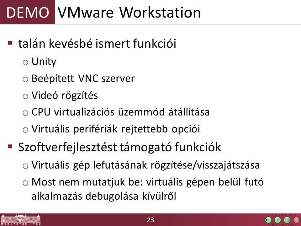 VMware Workstation talán kevésbé ismert funkciói