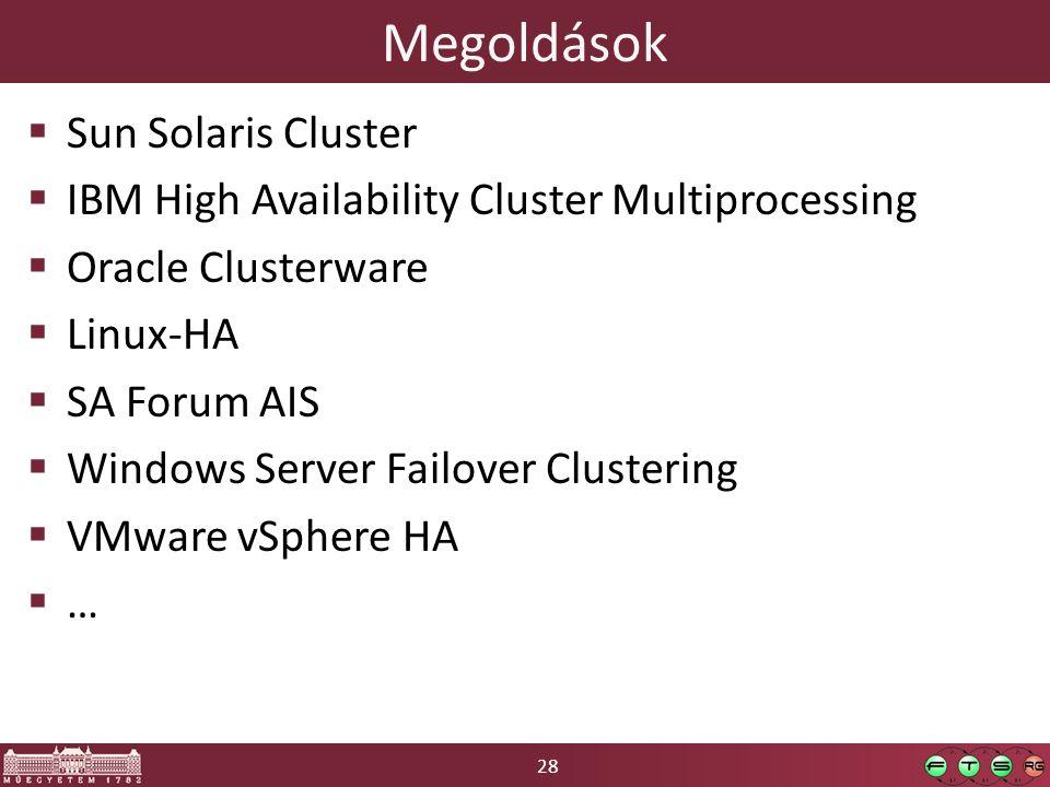 Megoldások Sun Solaris Cluster