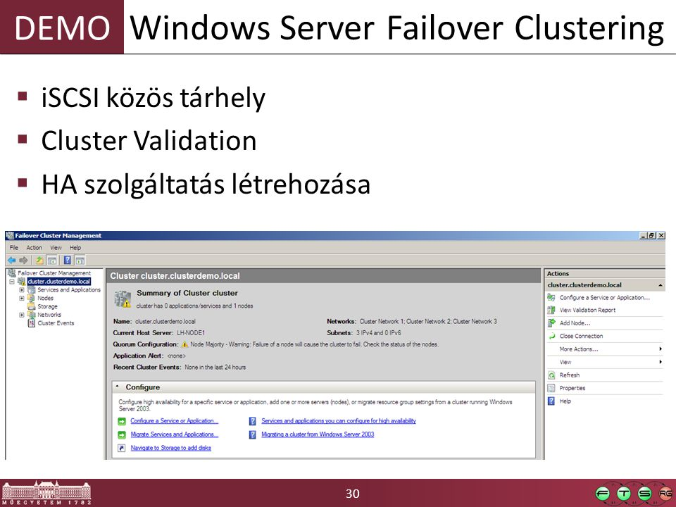 Windows Server Failover Clustering