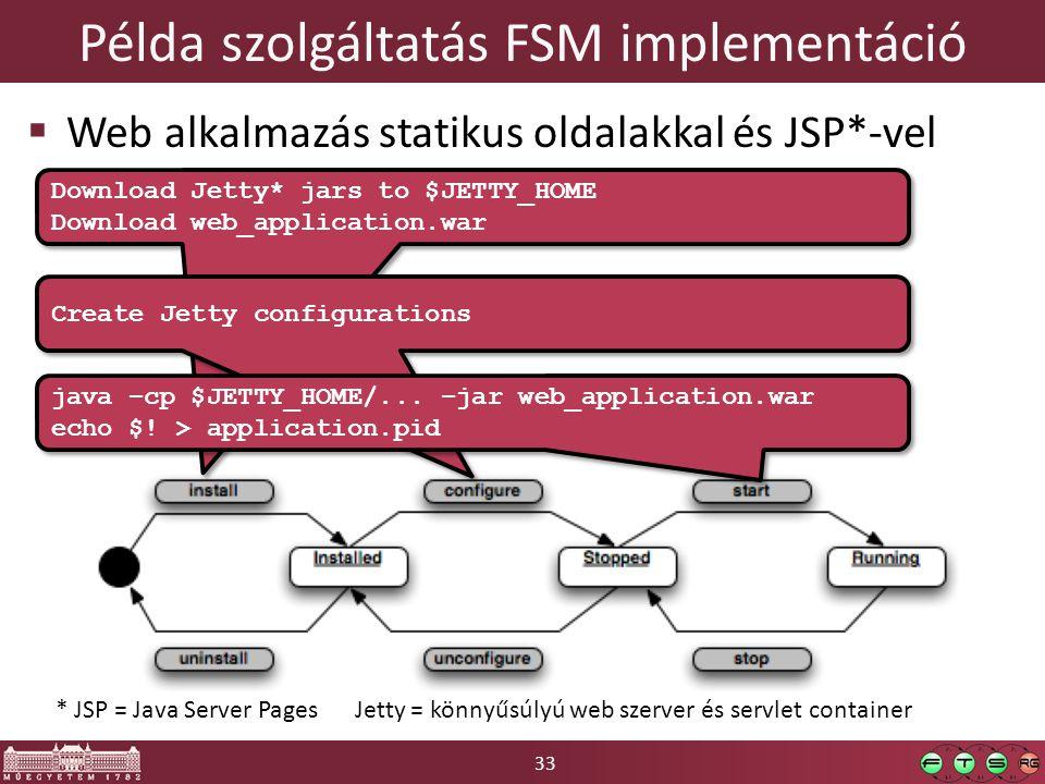 Példa szolgáltatás FSM implementáció