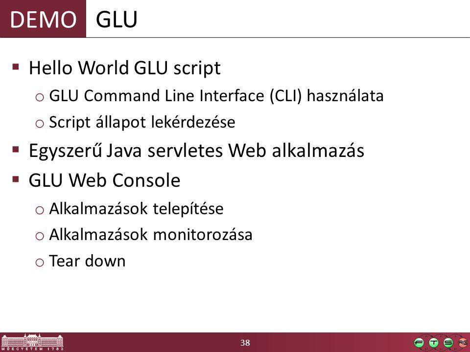 GLU Hello World GLU script Egyszerű Java servletes Web alkalmazás