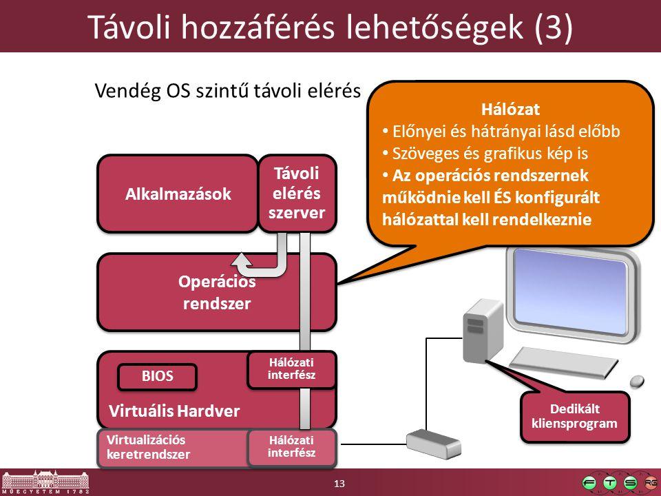 Távoli hozzáférés lehetőségek (3)