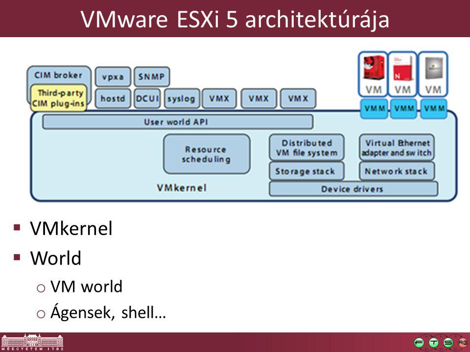 VMware ESXi 5 architektúrája