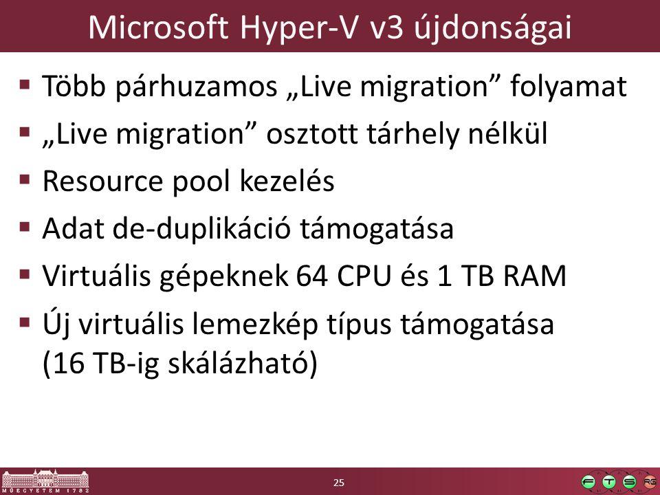 Microsoft Hyper-V v3 újdonságai
