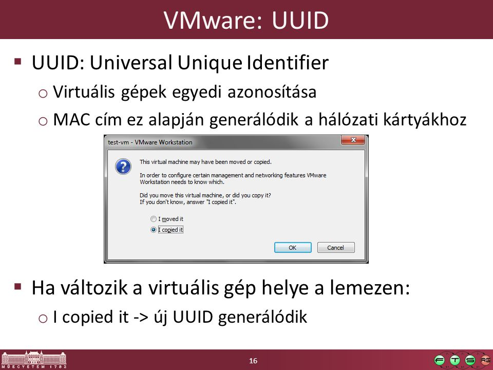 VMware: UUID UUID: Universal Unique Identifier