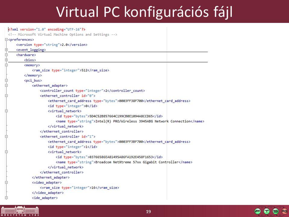 Virtual PC konfigurációs fájl