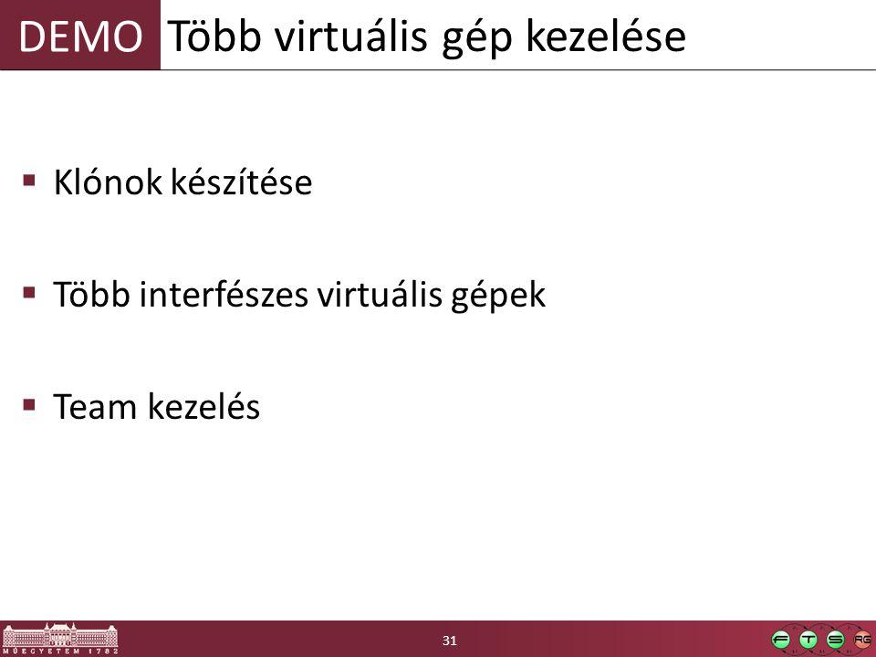Több virtuális gép kezelése