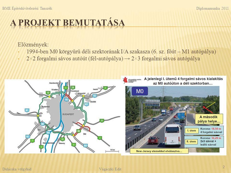 A projekt bemutatása Előzmények: