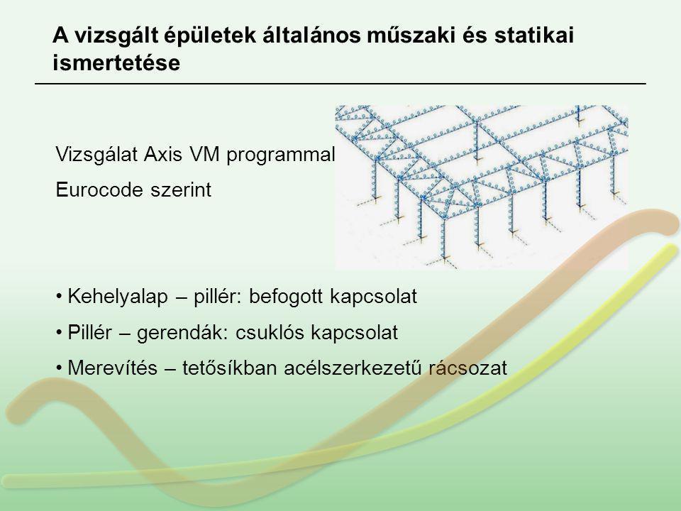 A vizsgált épületek általános műszaki és statikai ismertetése