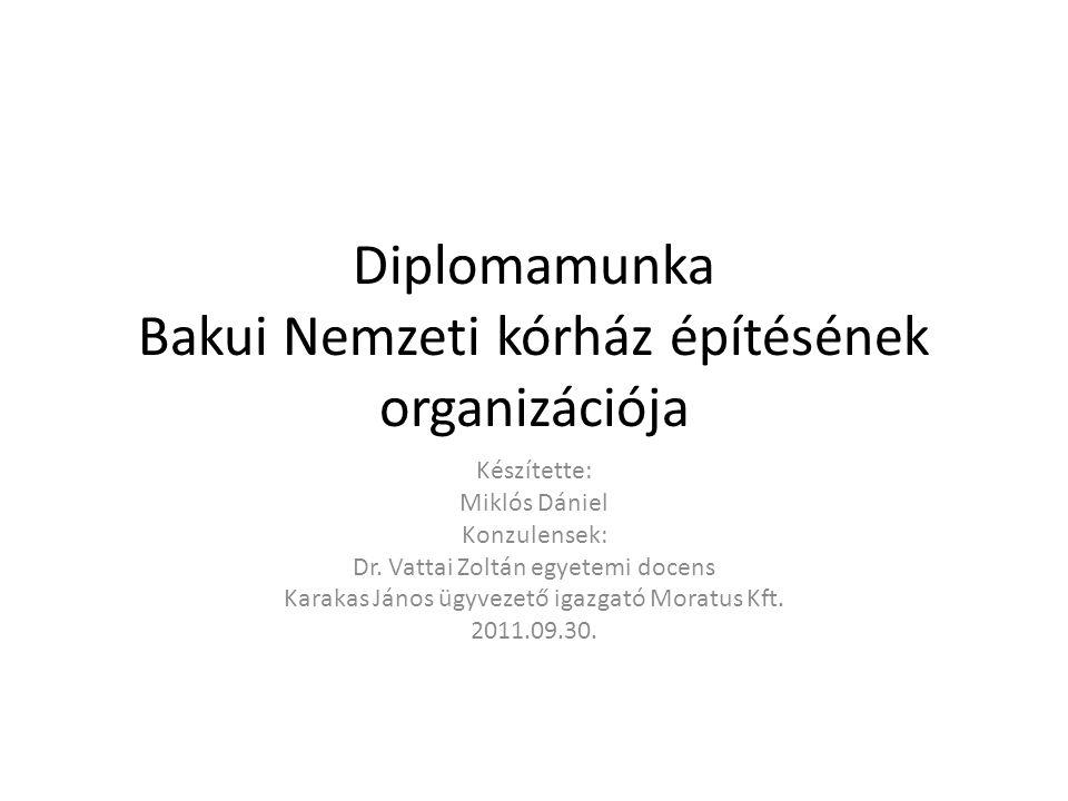 Diplomamunka Bakui Nemzeti kórház építésének organizációja