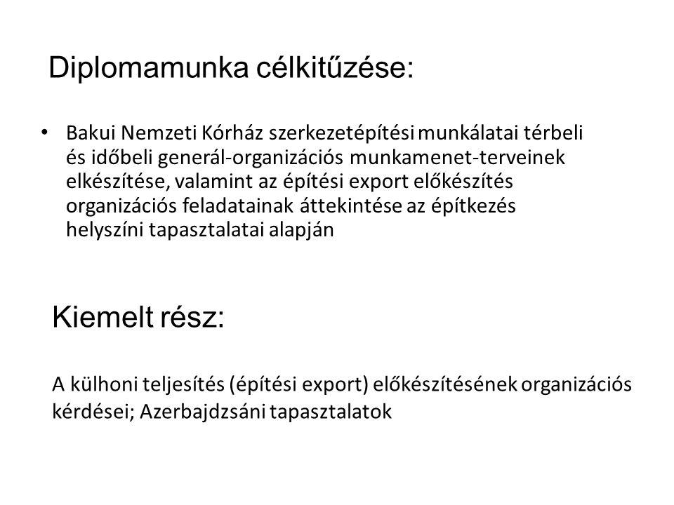 Diplomamunka célkitűzése: