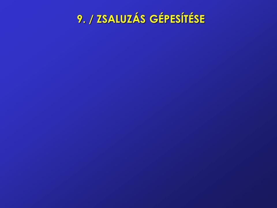 9. / ZSALUZÁS GÉPESÍTÉSE