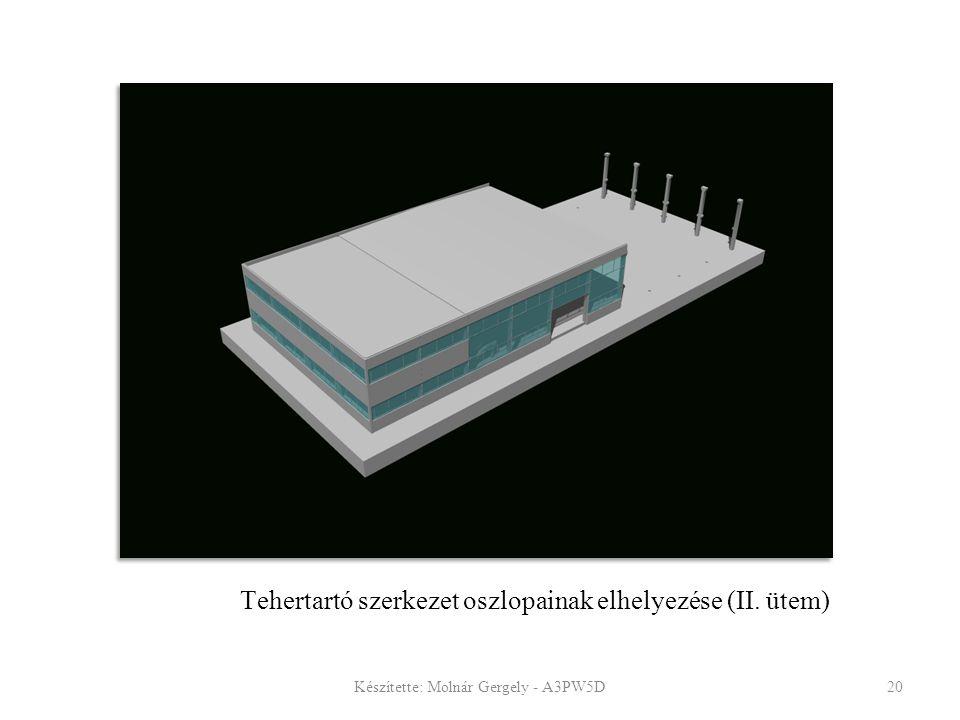 Tehertartó szerkezet oszlopainak elhelyezése (II. ütem)