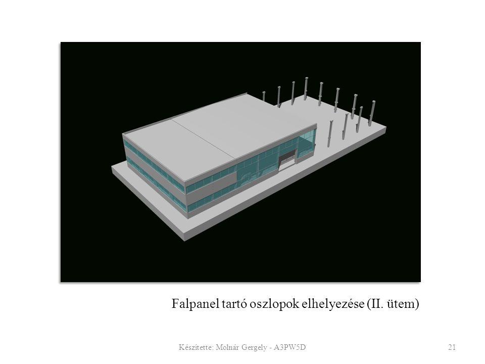 Falpanel tartó oszlopok elhelyezése (II. ütem)