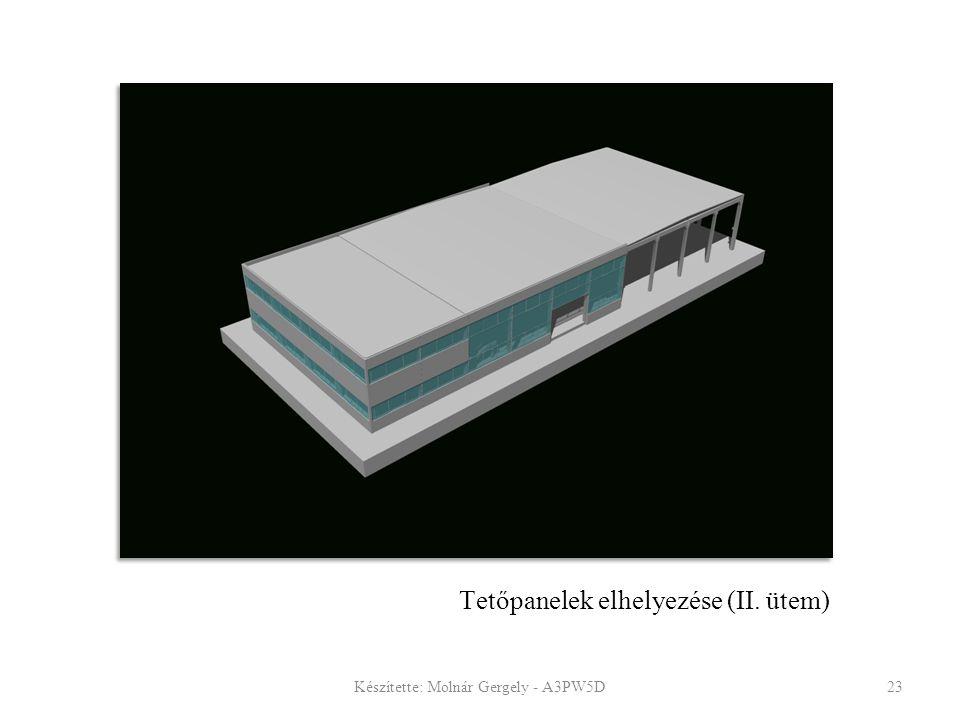 Tetőpanelek elhelyezése (II. ütem)