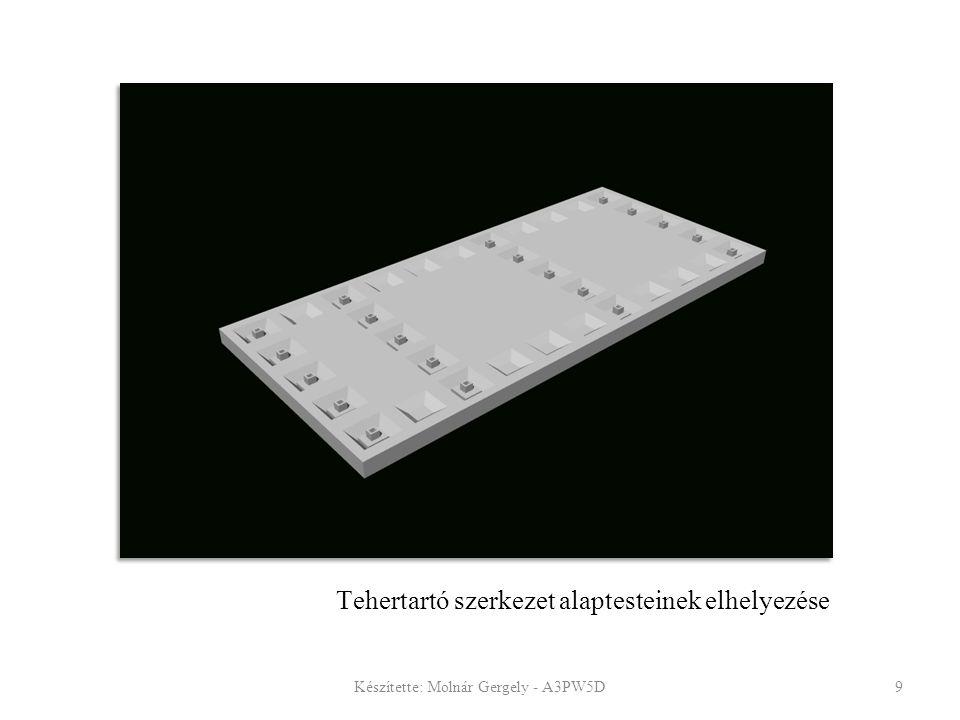 Tehertartó szerkezet alaptesteinek elhelyezése
