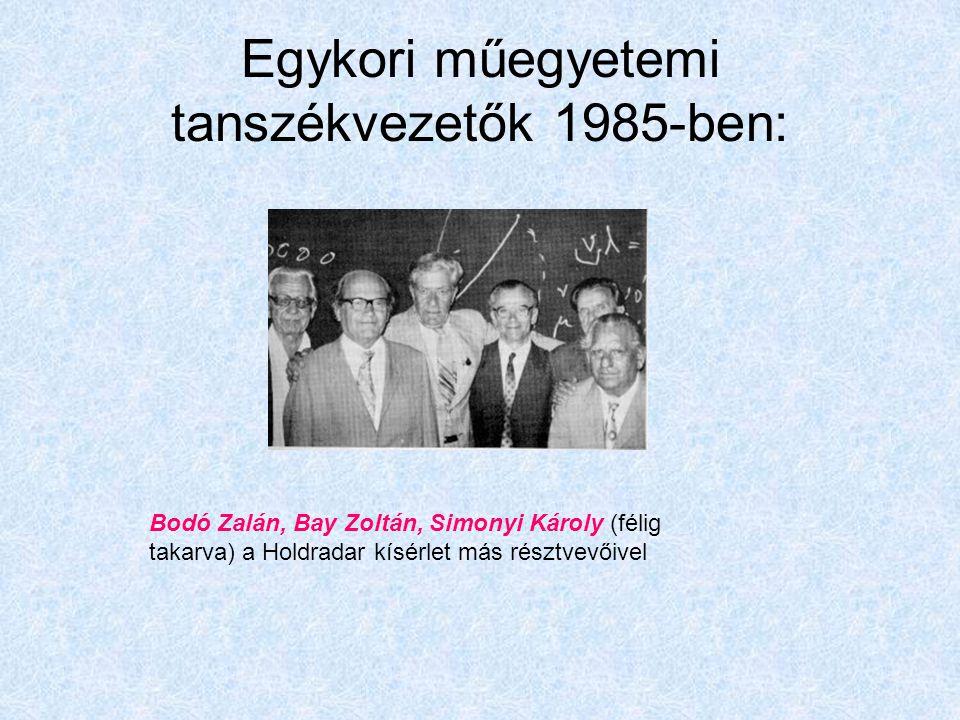 Egykori műegyetemi tanszékvezetők 1985-ben: