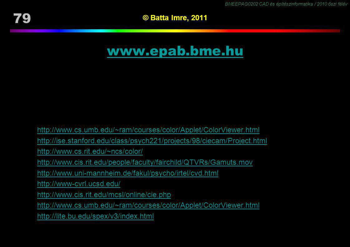 www.epab.bme.hu © Batta Imre, 2011