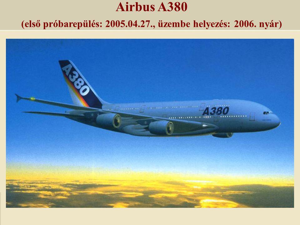 (első próbarepülés: 2005.04.27., üzembe helyezés: 2006. nyár)
