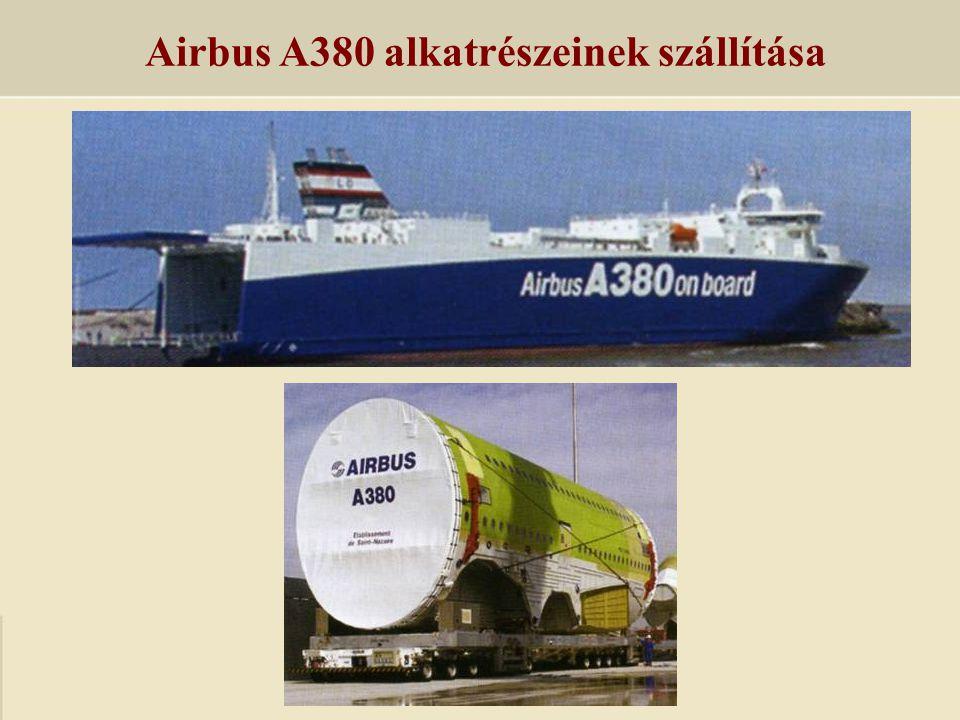 Airbus A380 alkatrészeinek szállítása