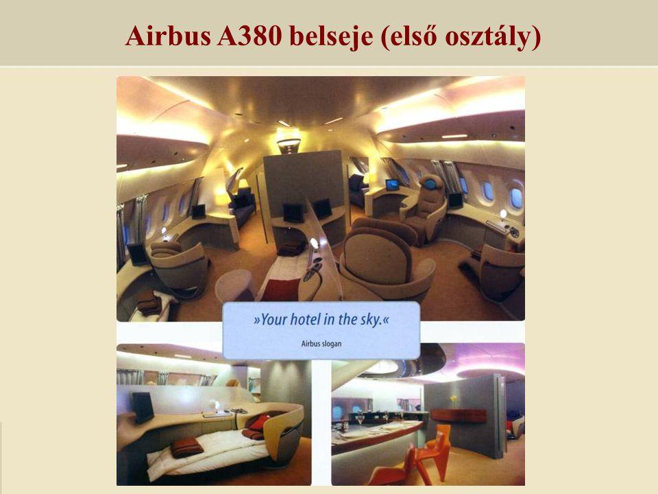 Airbus A380 belseje (első osztály)