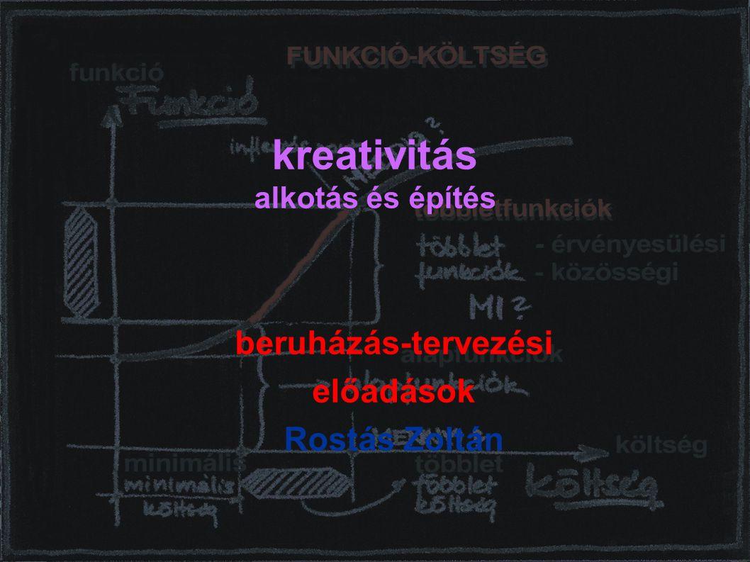 kreativitás alkotás és építés