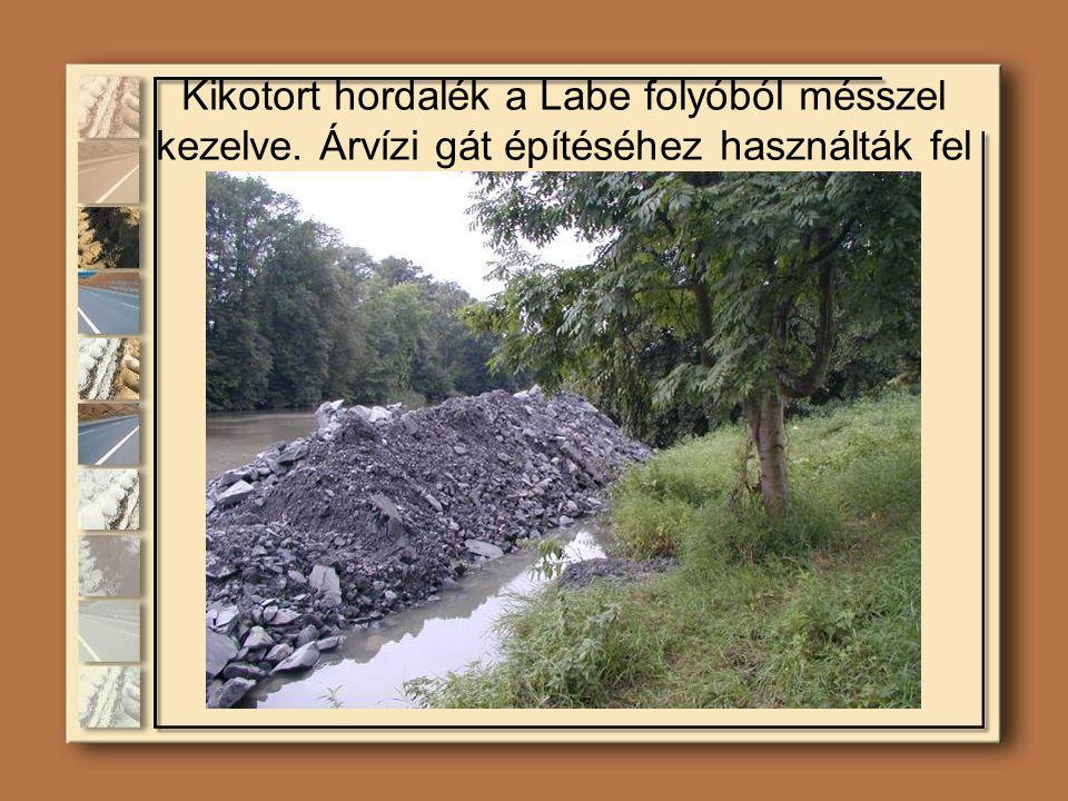 Kikotort hordalék a Labe folyóból mésszel kezelve