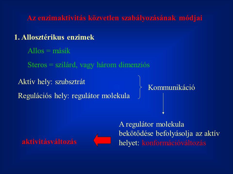 Az enzimaktivitás közvetlen szabályozásának módjai