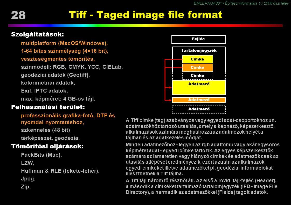 Tiff - Taged image file format