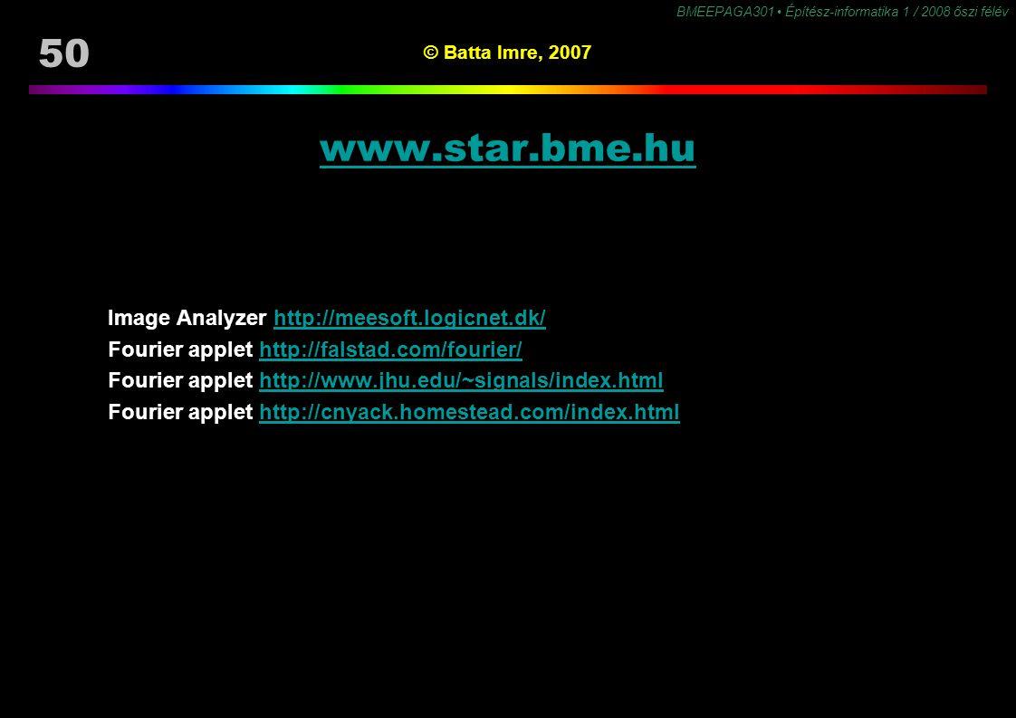 www.star.bme.hu Image Analyzer http://meesoft.logicnet.dk/