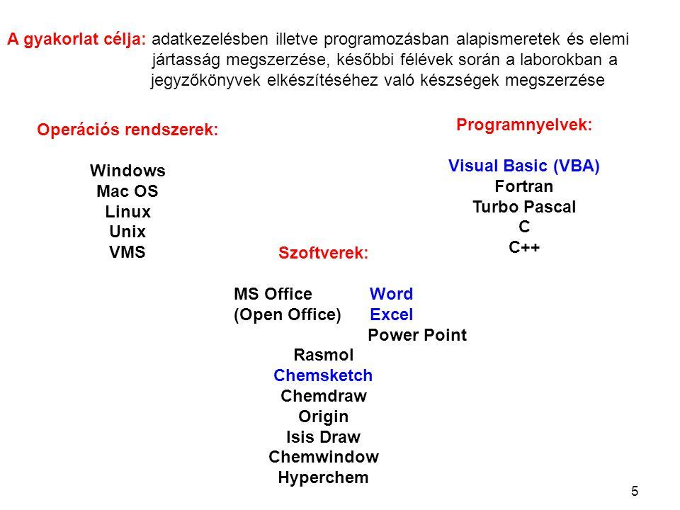 Operációs rendszerek: