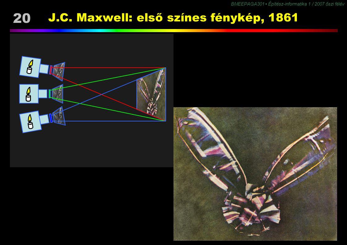 J.C. Maxwell: első színes fénykép, 1861