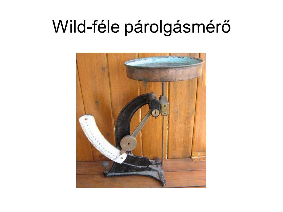 Wild-féle párolgásmérő