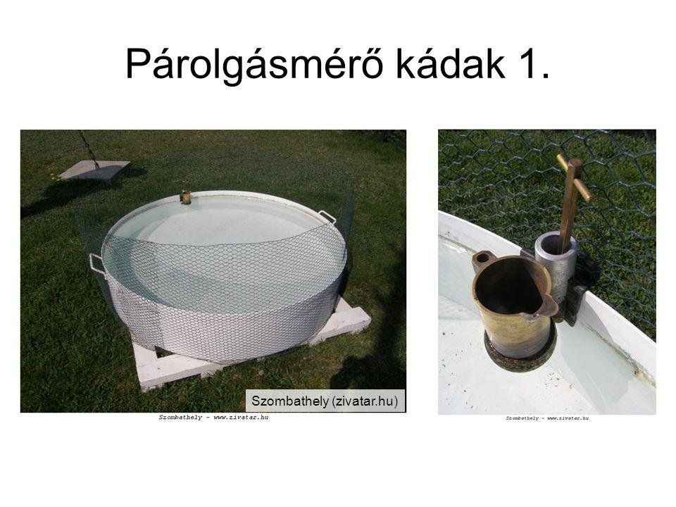 Párolgásmérő kádak 1. Szombathely (zivatar.hu)