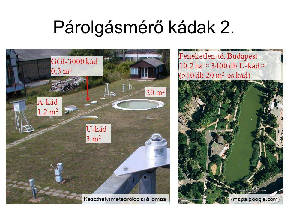 Párolgásmérő kádak 2. Feneketlen-tó, Budapest GGI-3000 kád