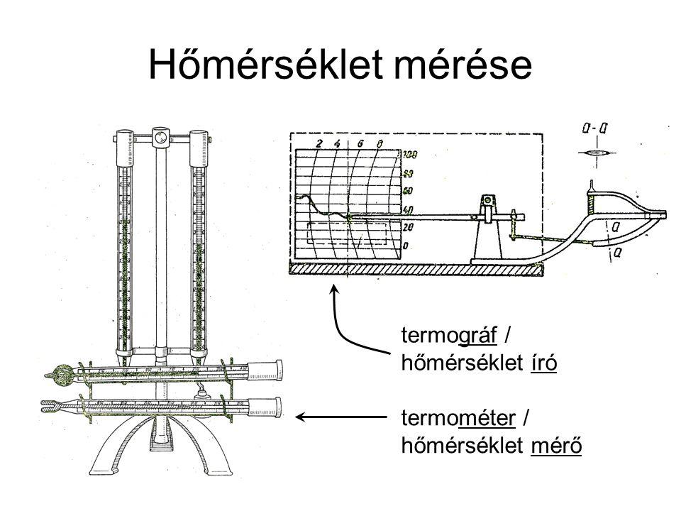 Hőmérséklet mérése termográf / hőmérséklet író