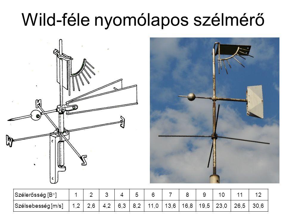 Wild-féle nyomólapos szélmérő