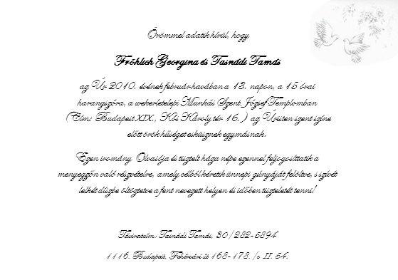 Fröhlich Georgina és Tasnádi Tamás