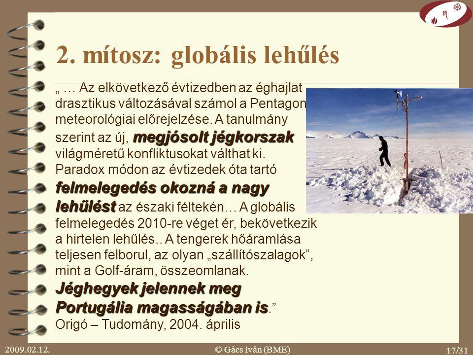 2. mítosz: globális lehűlés