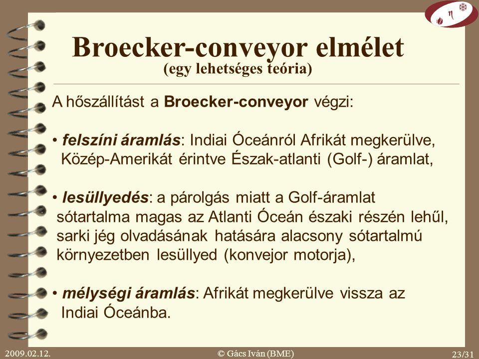 Broecker-conveyor elmélet (egy lehetséges teória)