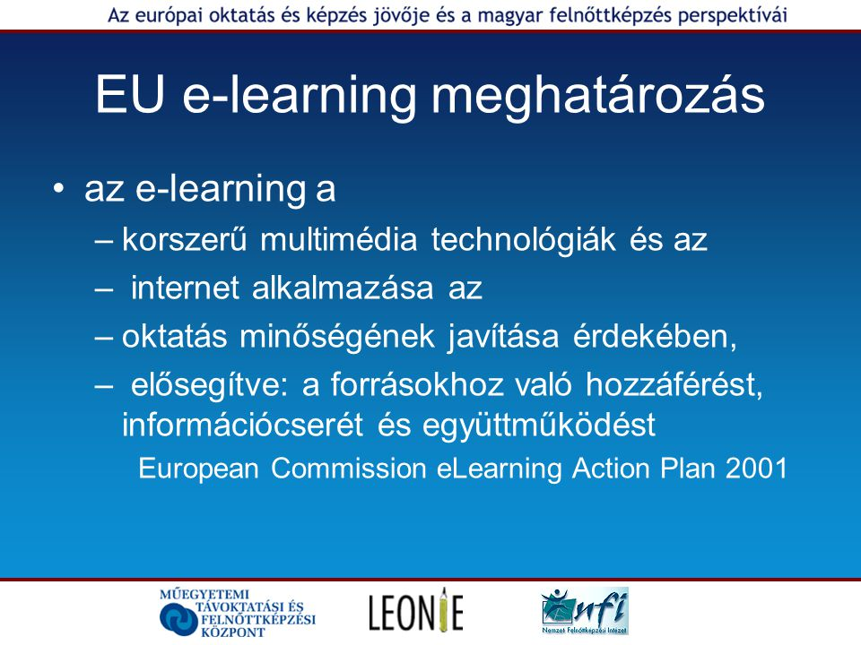 EU e-learning meghatározás