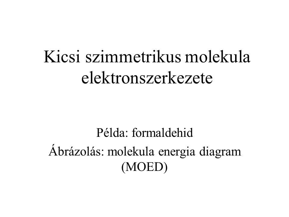 Kicsi szimmetrikus molekula elektronszerkezete