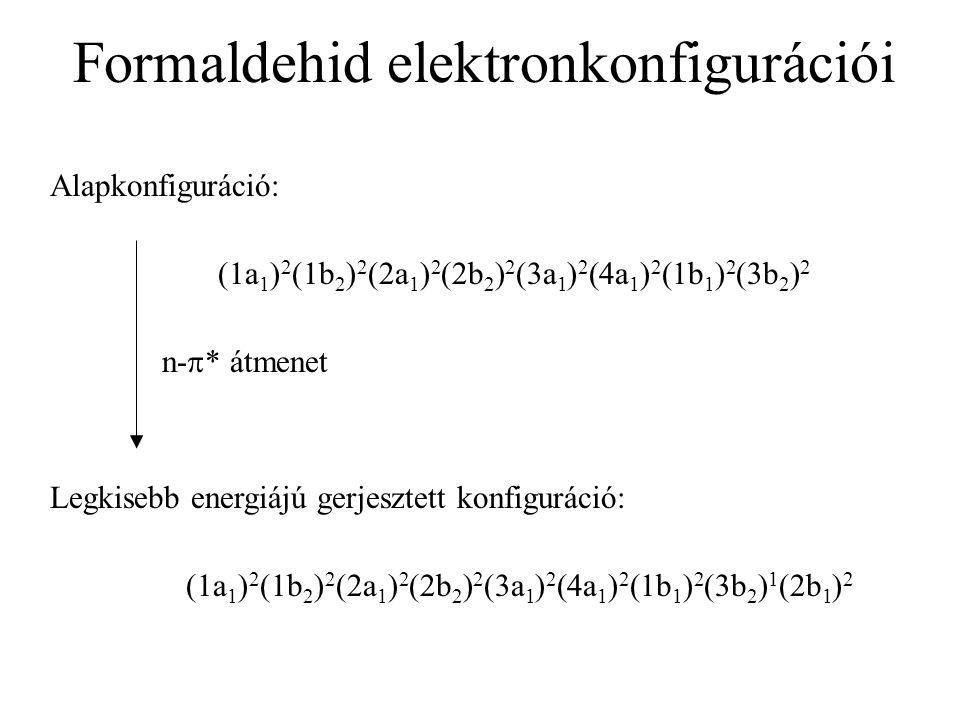 Formaldehid elektronkonfigurációi