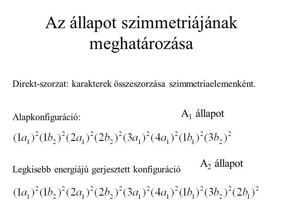 Az állapot szimmetriájának meghatározása