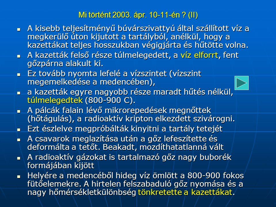 Mi történt 2003. ápr. 10-11-én (II)