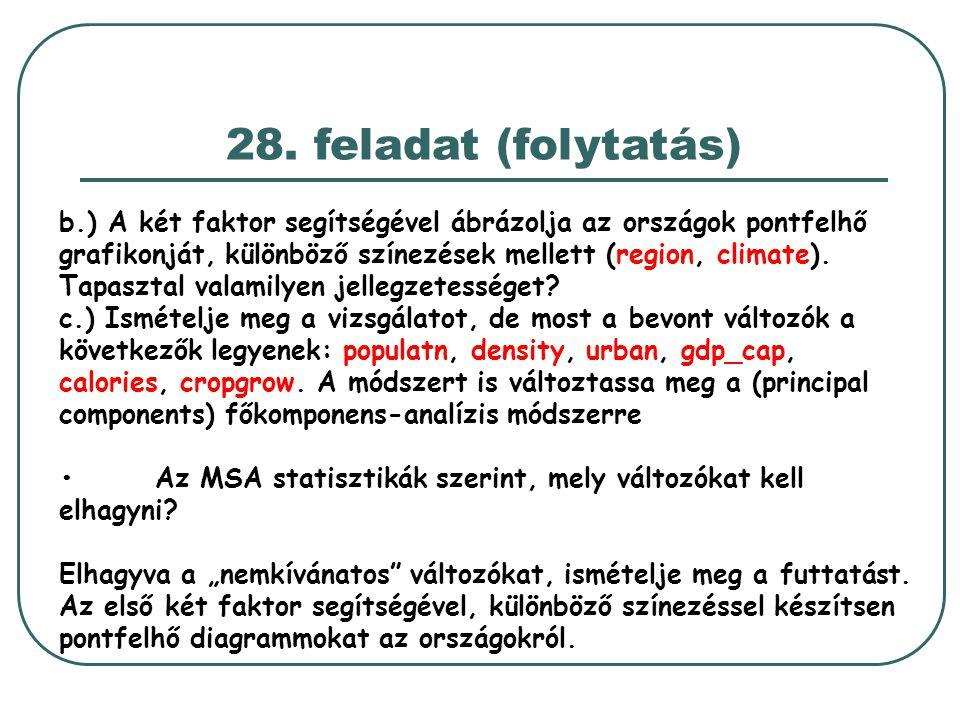 28. feladat (folytatás)