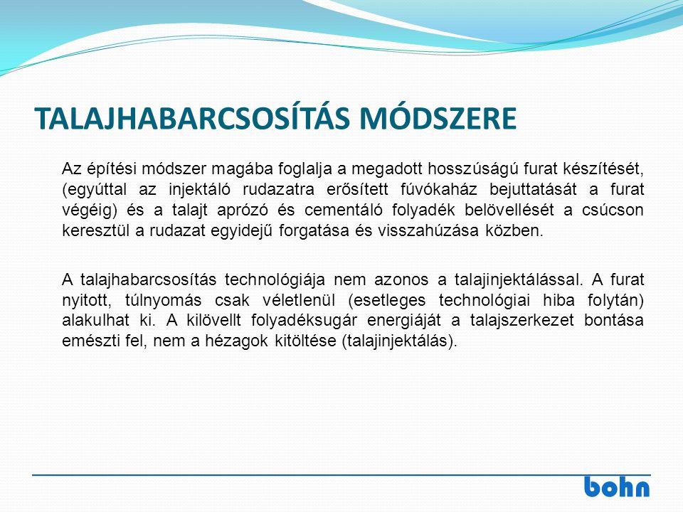 TALAJHABARCSOSÍTÁS MÓDSZERE
