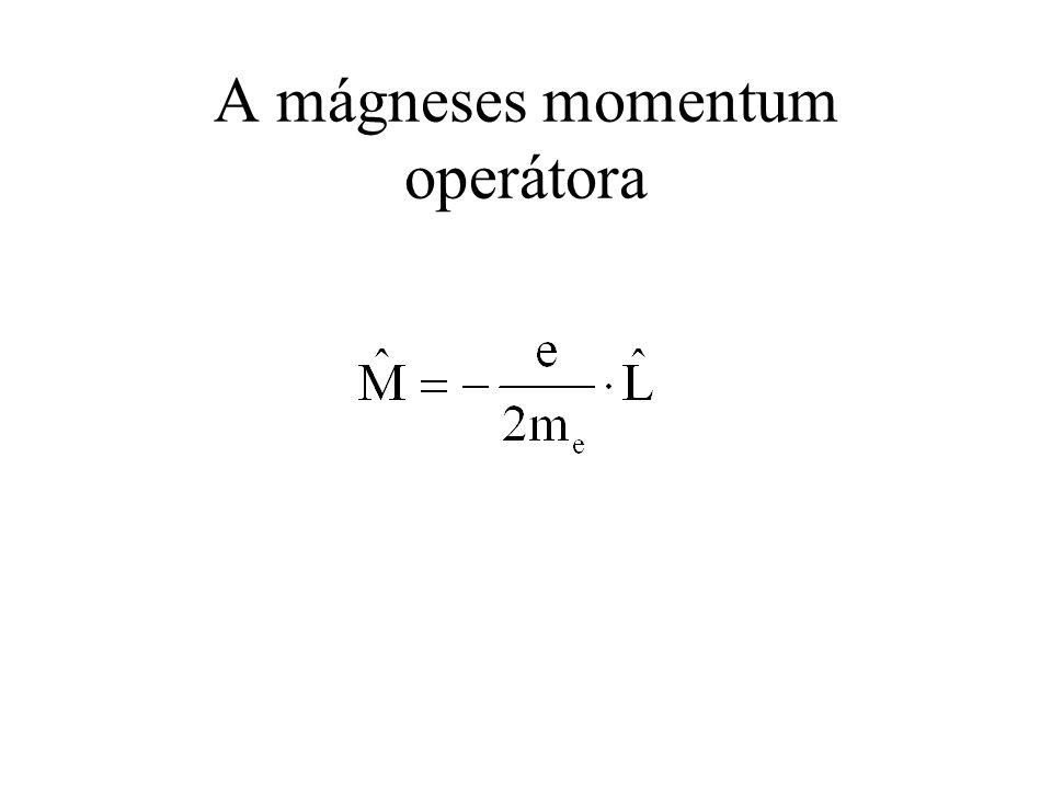A mágneses momentum operátora