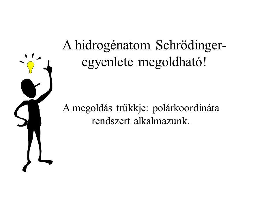 A hidrogénatom Schrödinger-egyenlete megoldható!