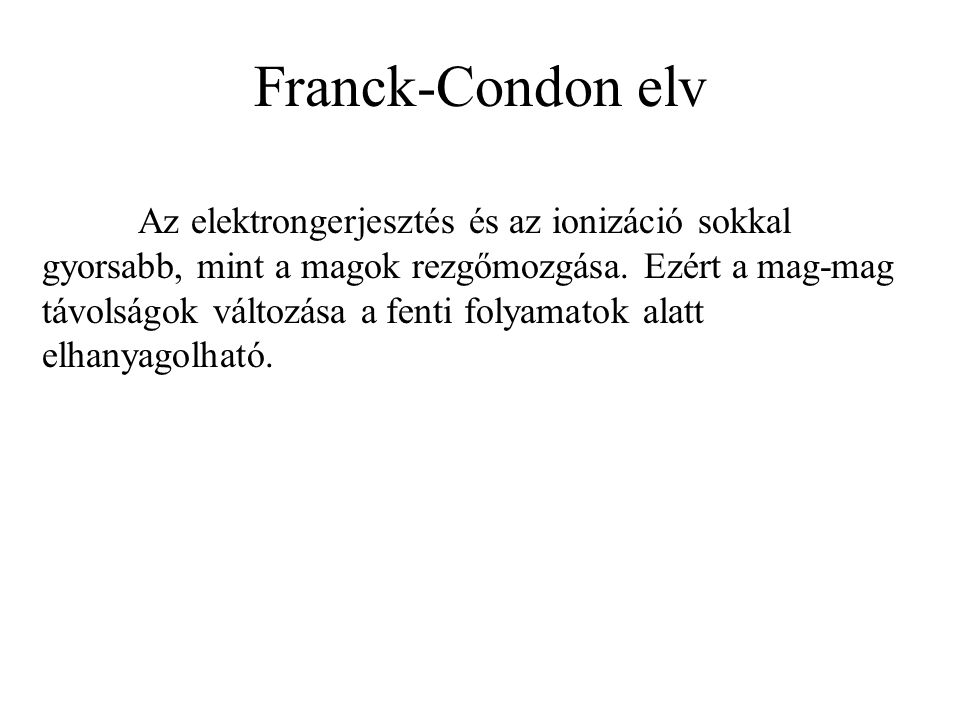 Franck-Condon elv
